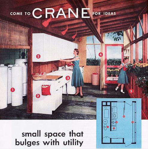 1953, Waschküche und Blumen