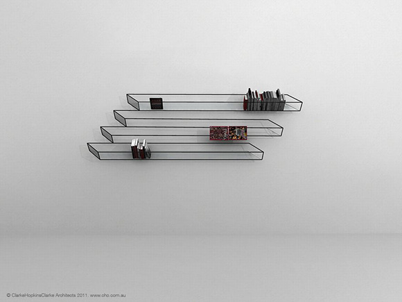 Optical-illusion-bookshelf